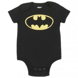 DC Comics Newborn And Infant Black Onesie With Bat Signal