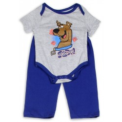 Scooby Doo Grey Infant Onesie and Blue Pants Sets At Kids Fashion Clothing Store