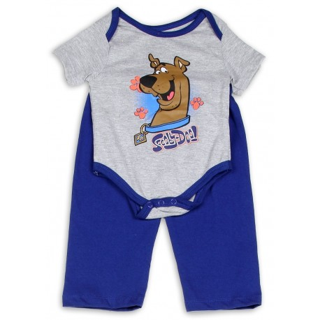 Scooby Doo Grey Infant Onesie and Blue Pants Sets At Houston Kids Fashion Clothing Store