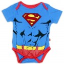 DC Comics Superman Blue Flocked Logo Onesie Kids Fashion Clothing Store