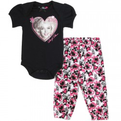 Marilyn Monroe 2 Piece Set With Black Marilyn Onesie And Pants Houston Kids Fashion Clothing Store