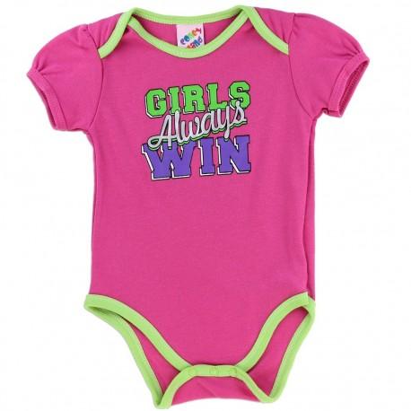 Coney Island Girls Always Win Pink Girls Baby Onesie Houston Kids Fashion Clothing Store