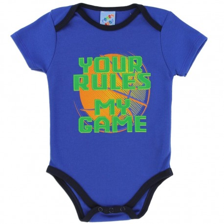 Coney Island Your Rules My Game Royal Blue Boys Baby Onesie At Kids Fashion Clothing