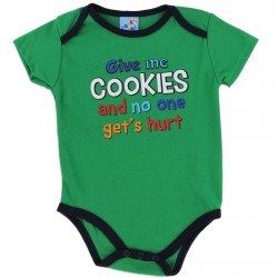 Coney Island Give Me Cookies And No One Gets Hurt Boys Baby Onesie Houston Kids Fashion Clothing