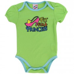 Coney Island Fit for A Princess Green Baby Onesie At Kids Fashion Clothing Store