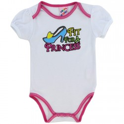 Coney Island Fit for A Princess White Baby Onesie