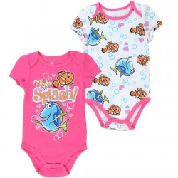 Disney Finding Dory Make A Splash Pink And White Baby Onesie Set