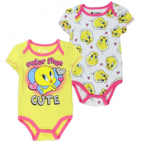 Looey Tunes Cuter Than Cute Yellow Tweety Bird 2 Piece Set Houston Kids Fashion Clothing