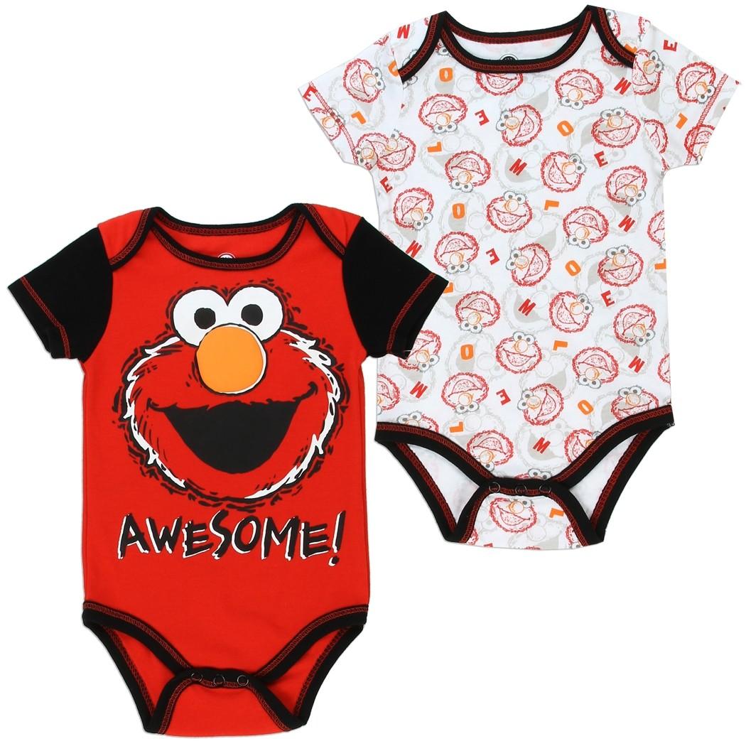 Sesame Street Elmo Awesome Onesie 2 Piece Set Kids Fashion