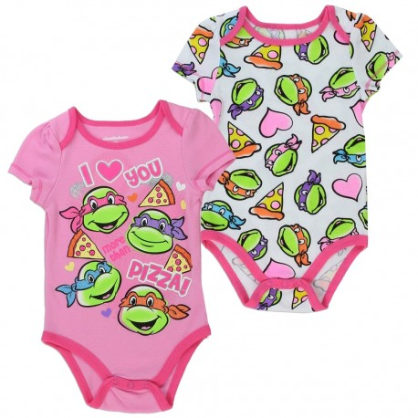 Nick Jr Teenage Mutant Ninja Turtles I Love You More Than Pizza Pink 2 Piece Onesie Set At Houston Kids Fashion Clothing Store