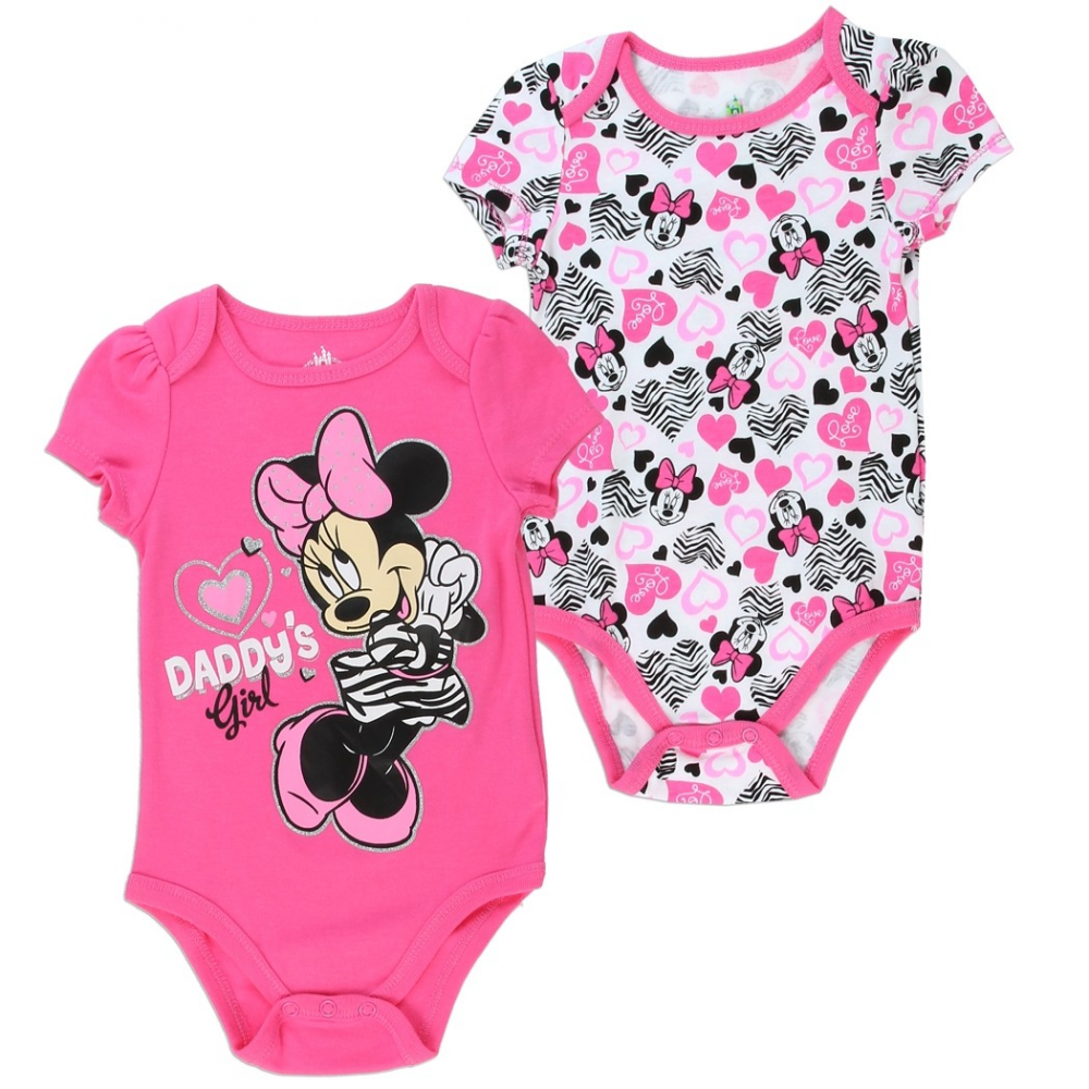 56f8e40cc8c Disney Minnie Mouse Daddy's Gal Pink 2 Piece Baby Onesie Set At Houston  Kids Clothing Store. Loading zoom