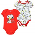 Peanuts Snoopy And Woodstock Free Hugs Red And White Baby Onesie Set At Houston Kids Fashion Clothing Store