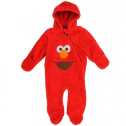 Sesame Street Elmo Infant Boys Red Sherpa Hooded Pram