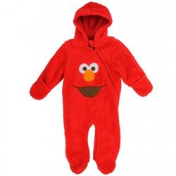 Sesame Street Elmo Infant Boys Red Sherpa Hooded Pram