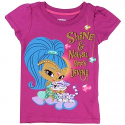 Nick Jr Shine And Nahal BFF's Divine Purple Shimmer And Shine Girls T Shirt