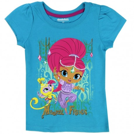 Nick Jr Shimmer And Shine Magical Friends Turquoise Toddler Girls T Shirt Houston Kids Clothing