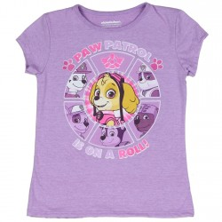 Nick Jr Paw Patrol Is On A Roll Purple Girls Shirt