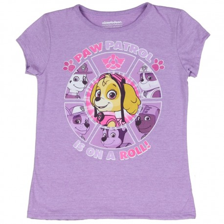 Nick Jr Paw Patrol Is On A Roll Purple Graphic T Shirt Houston Kids Fashion Clothing Store