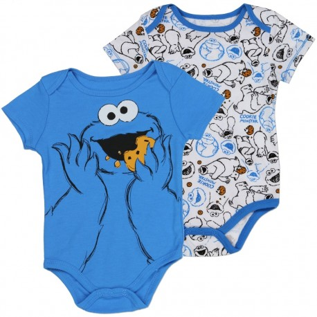 Sesame Street Cookie Monster Blue And White Onesie Set At Houston Kids Fashion Clothing Store