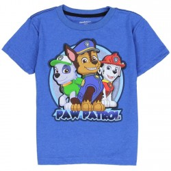 Nick Jr Paw Patrol Chase Marshall and Rubble Short Sleeve Toddler Boys Shirt