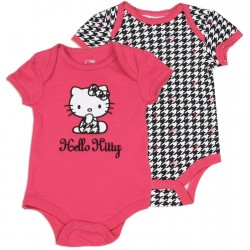 Hello Kitty Pink Onesie And Black And White Onesie Set