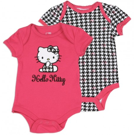Hello Kitty Pink Onesie And Black And White Onesie Set Houston Kids Fashion Clothing Store