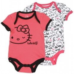 Hello Kitty Infant XOXO Piece Baby Onesie Set At Houston Kids Fashion Clothing Store