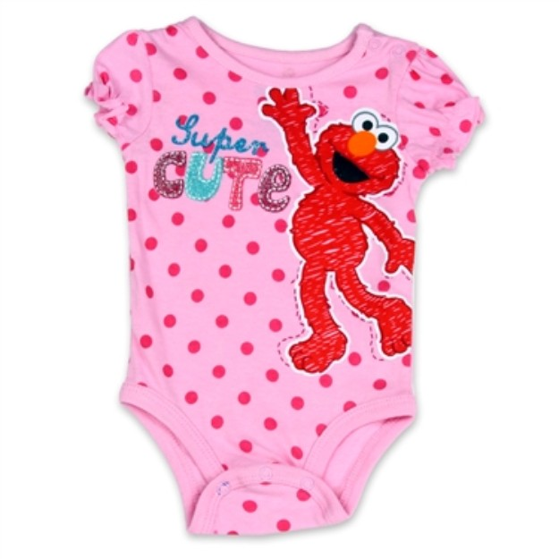 Sesame Street Pink Baby Onesie Sesame Street Elmo Baby