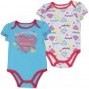 DC Comics Supergirl In Training Blue Onesie With A White Onesie With Supergirl Logo At Houston Kids Fashion Clothing