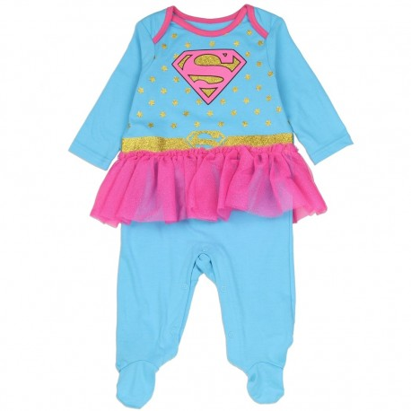 DC Comics Supergirl Costume Footed Sleeper With Tutu At Houston Kids Fashion Clothing Store