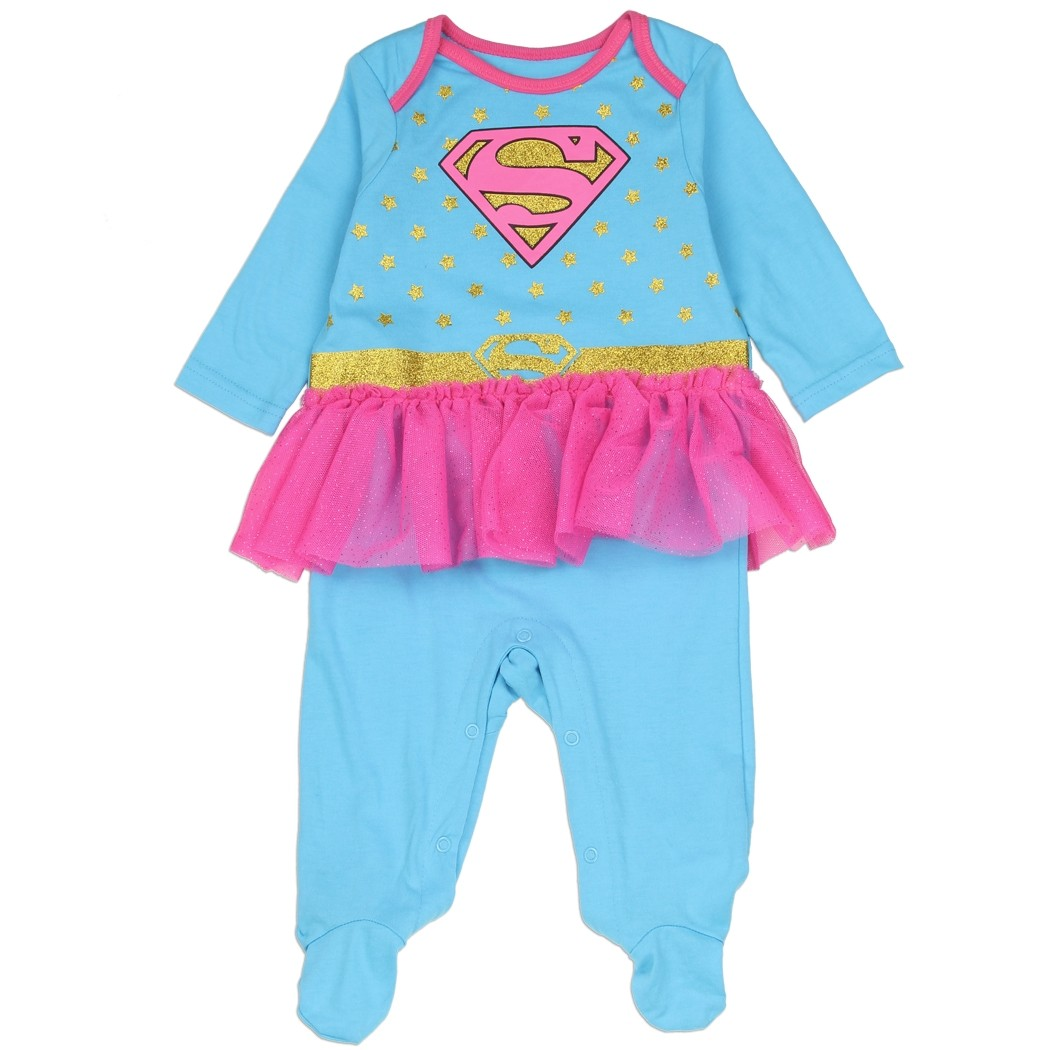 NEW Baby Supergirl Logo Costume One Piece Sizes 0-3 Months Pink
