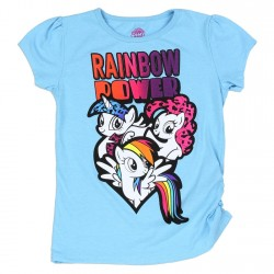 My Little Pony Toddler Rainbow Power Short Sleeve Shirt With Rainbow Dash Twilight Sparkle And Pinkie Pie