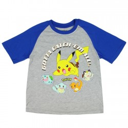 Pokemon Gotta Catch'em All Grey Short Sleeve Boys T Shirt At Houston Kids Fashion Clothing Store