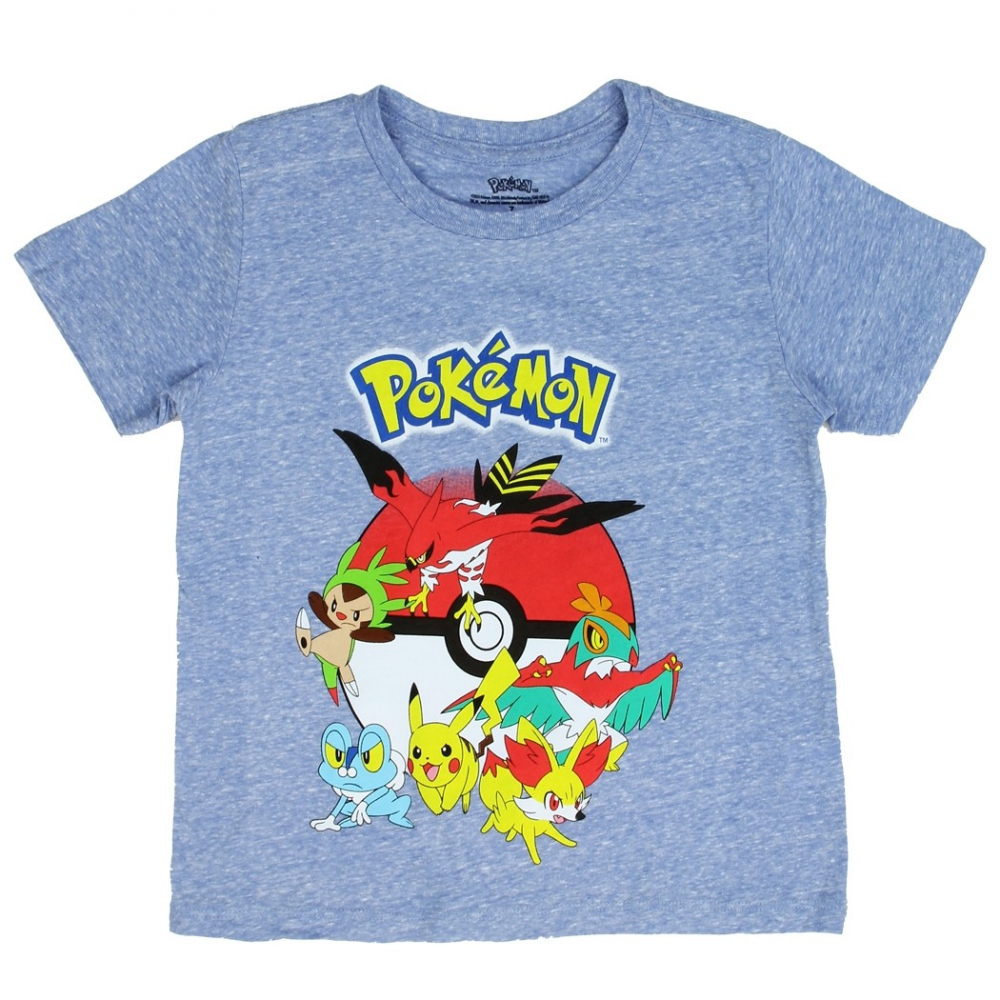 Pokemon pikachu and friends with pokeball boys shirt free for Cheap t shirt printing houston