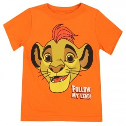 Disney Lion Guard Follow My Lead Kion Orange Toddler Boys T Shirt