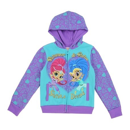 Nick Jr Shimmer And Shine Sisters Divine Toddler Girls Zippered Hoodie Houston Kids Fashion Clothing