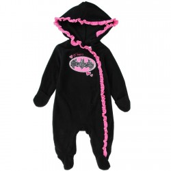 DC Comics Bargirl Lil Hero Infant Lightweight Black Polar Fleece Pram At Houston Kids Fashion Clothing Store