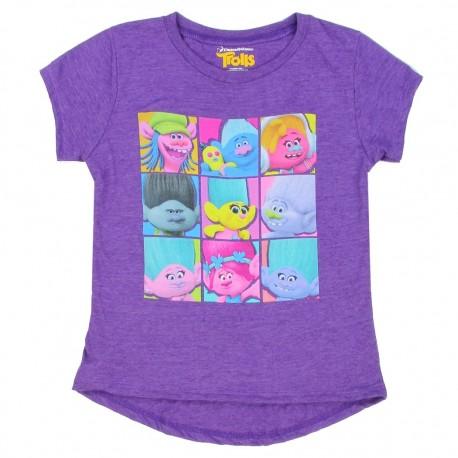 Dreamworks Trolls Cast Of Characters Heather Purple Short Sleeve Shirt At Houston Kids Fashion Clothing