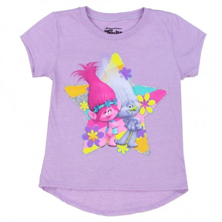 Dreamworks Trolls Character Lavender Short Sleeve Shirt At Houston Kids Fashion Clothing
