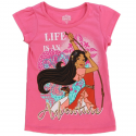 Disney Princess Elana Life Is An Adventure Pink Short Sleeve Girls Shirt Houston Kids Fashion Clothing
