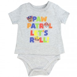 Nick Jr Paw Patrol Grey Paw Patrol Let's Roll T Shirt Onesie