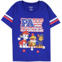 Nick Jr Paw Patrol Red White and Blue Boys Shirt