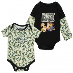 Nick Jr Paw Patrol Green And White Baby Onesie 2 Piece Set