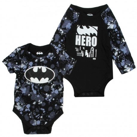 DC Comics Batman Black Hero 2 Piece Onesie Set At Houston Kids Fashion Clothing Store