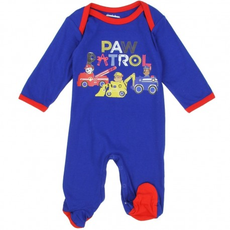 Nick Jr Paw Patrol Blue Chase Marshall And Rubble Footed Sleeper Houston Kids Fashion Clothing