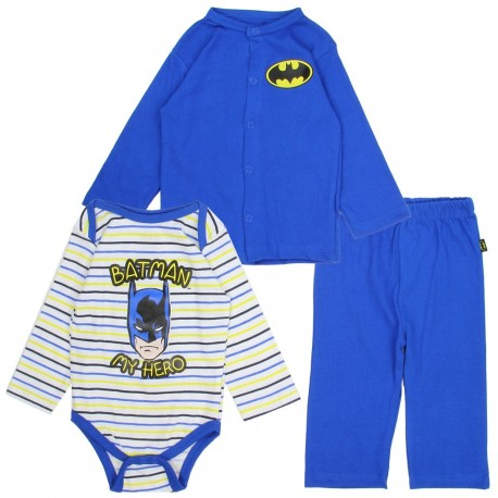 DC Comics Batman My Hero Onesie Jacket And Pants Infant 3 Piece Set At Houston Kids Fashion Clothing