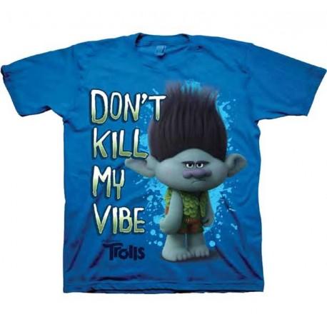Trolls Don't Kill My Vibe Blue Boys Shirt At Houston Kids Fashion Clothing Boys Shirt