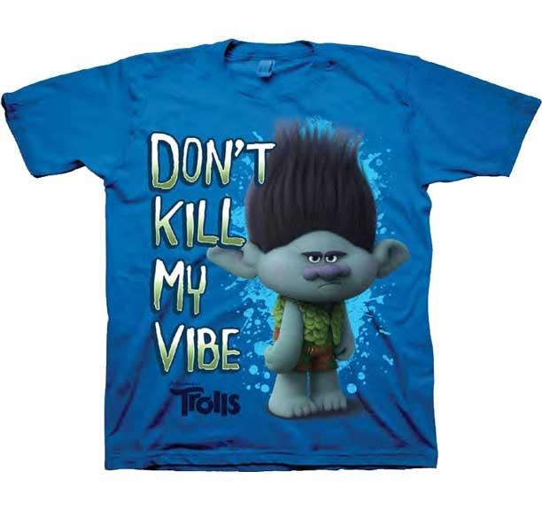 Don T Kill My Vibe Trolls Boys Shirt Dreamworks Trolls