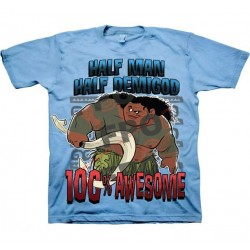 Maui Half Man Half Demigod 100% Awesome Light Blue Boys Shirt At Houston Kids Fashion Clothing