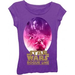 Disney Star Wars Rogue One Jyn Erso Purple Girls Princess Tee